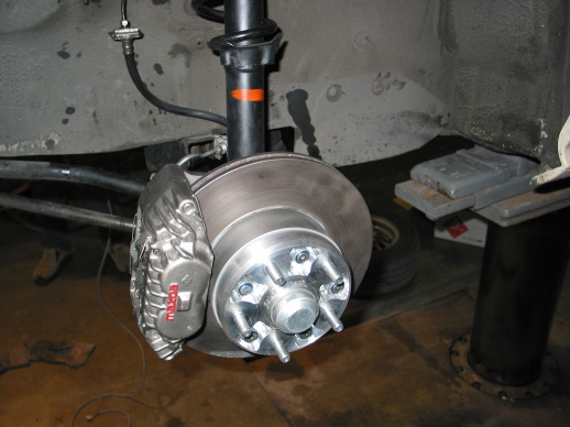 Front brake with HubSpacer