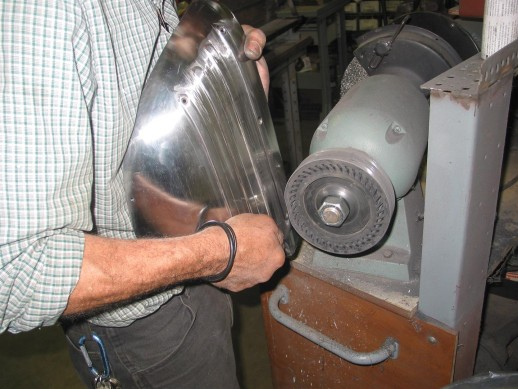 Sanding with expander wheel